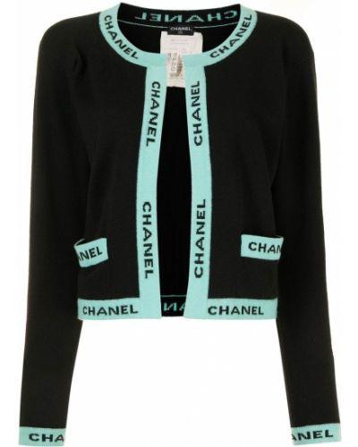 Черная кофта длинная Chanel Pre-owned