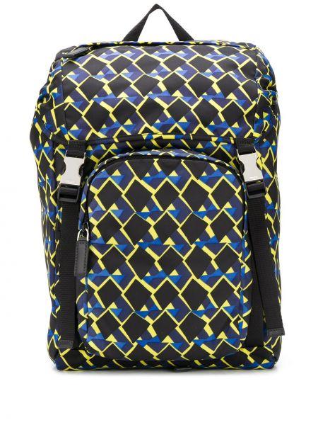 Skórzany plecak na paskach Prada