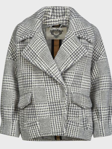 Серое пальто на кнопках Diego M