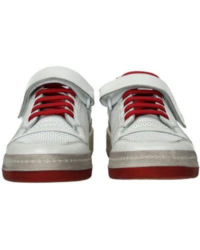 Białe sneakersy materiałowe z printem Saint Laurent