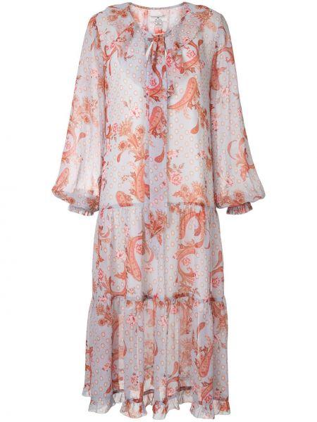 С рукавами расклешенное платье миди на молнии We Are Kindred