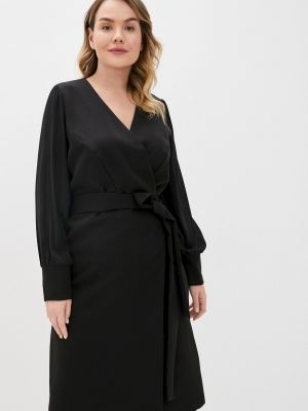 Черное повседневное платье Jp