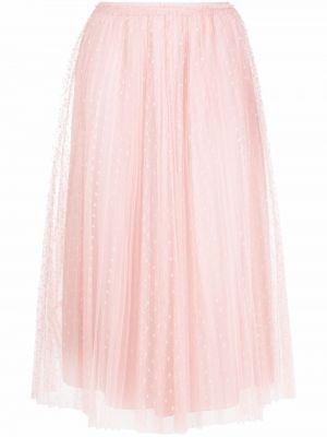 Розовая юбка с завышенной талией Red Valentino