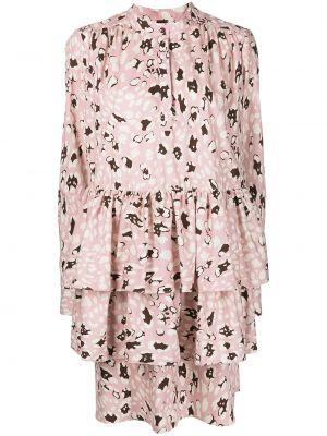 Платье макси длинное - розовое Adam Lippes