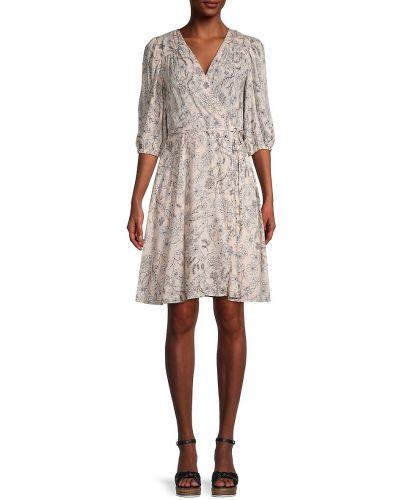 Купальное платье для полных с подкладкой в цветочный принт Calvin Klein