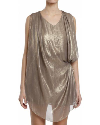 Платье осеннее золотой Plein Sud