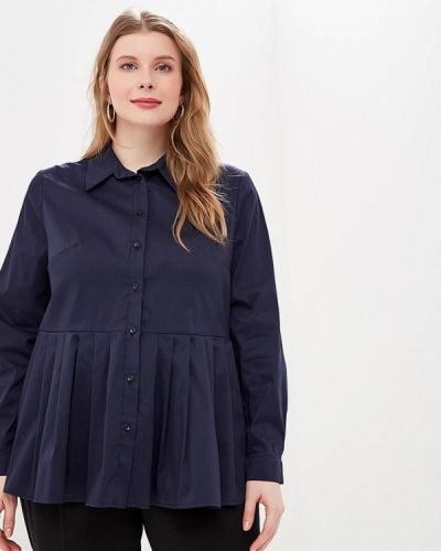 Блузка синяя весенний Tutto Bene Plus