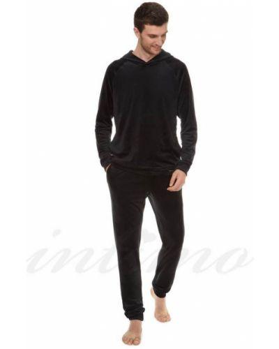 Велюровые брюки - черные Anabel Arto