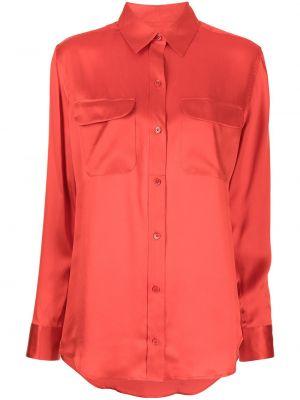 Шелковая рубашка - оранжевая Equipment