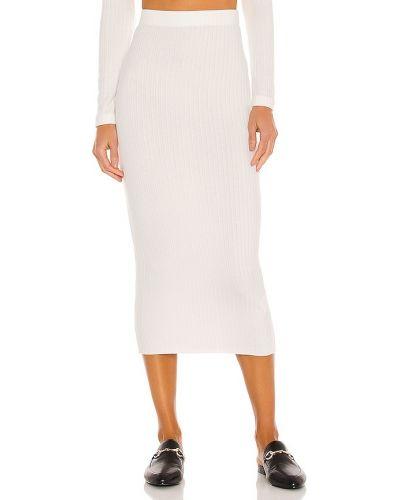 Prążkowana biała spódnica ołówkowa z wiskozy Enza Costa