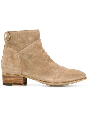 Коричневые ботинки на низком каблуке Officine Creative