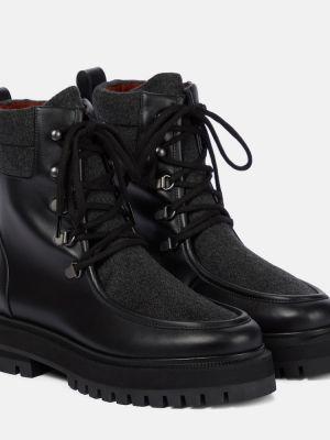 Ботильоны на шнуровке - черные Loro Piana