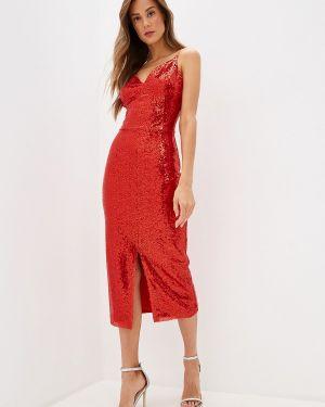 Вечернее платье красный осеннее Fashion.love.story