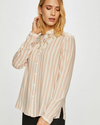 Блузка с длинным рукавом с воротником-стойкой в полоску Jacqueline De Yong