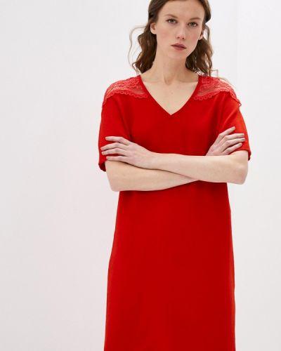 Повседневное красное платье Gerard Darel