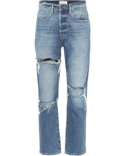 Прямые ватные хлопковые синие прямые джинсы Frame