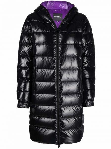 Черное стеганое пальто Duvetica
