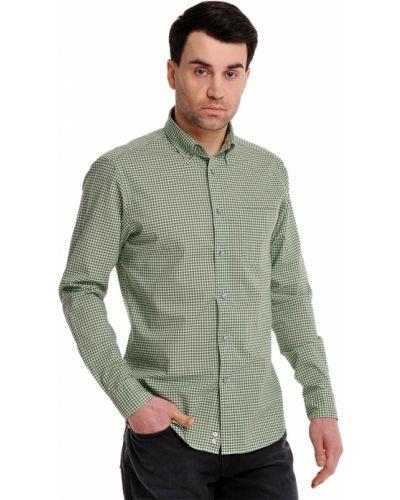 Зеленая рубашка хлопковая Ermenegildo Zegna