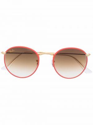 Złote okulary - pomarańczowe Ray-ban