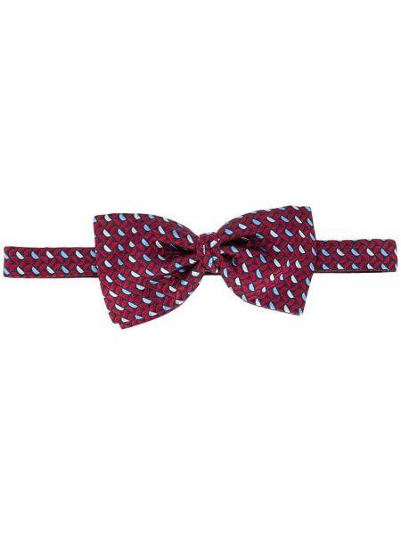Шелковый красный галстук-бабочка с бабочкой на крючках Ermenegildo Zegna