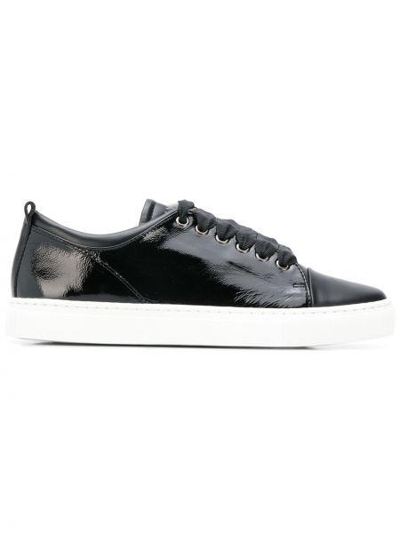 Кроссовки черные с логотипом Lanvin