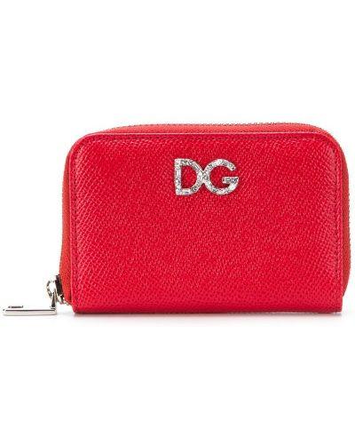 Кожаный кошелек на молнии круглый Dolce & Gabbana