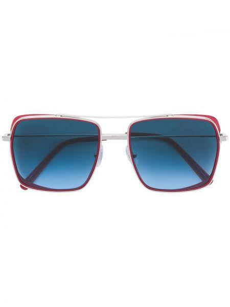 Солнцезащитные очки квадратные металлические хаки Oxydo