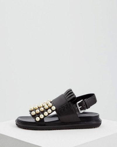 Черные сандалии Marni