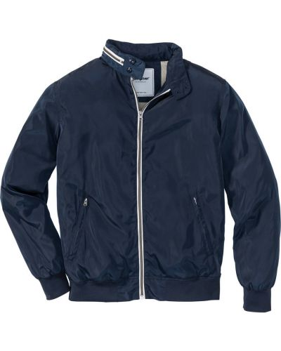 Куртка с капюшоном на молнии темно-синяя Bonprix