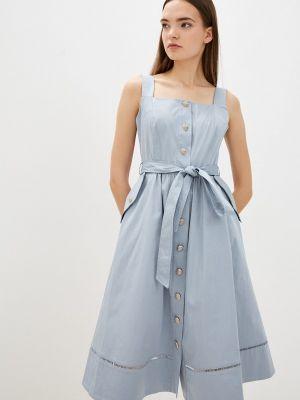 Голубое турецкое платье Lusio