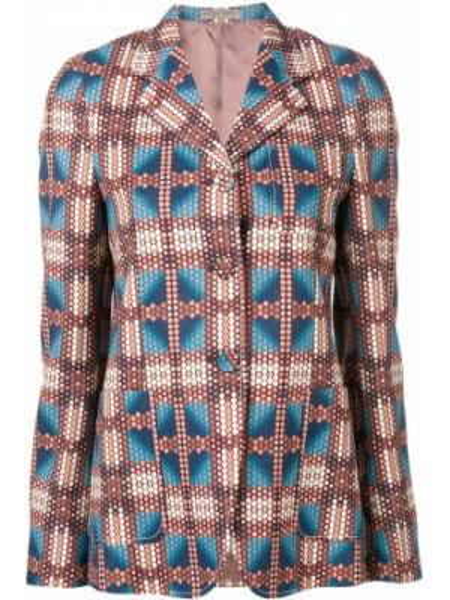 Розовый пиджак на пуговицах с лацканами Bottega Veneta
