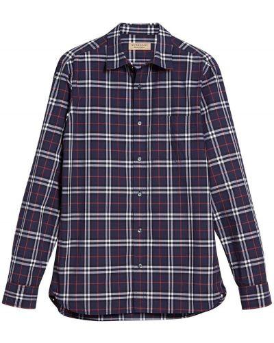 Рубашка с длинным рукавом в клетку хлопковая Burberry