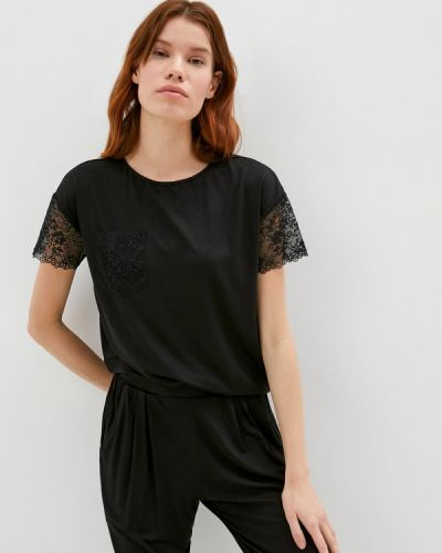Домашняя черная футболка Petit Pas
