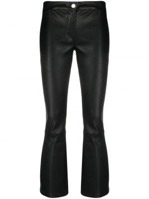 Облегающие черные кожаные брюки Arma