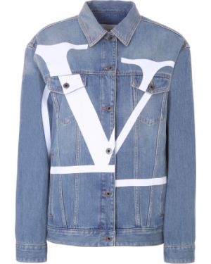 Джинсовая куртка оверсайз на пуговицах Valentino
