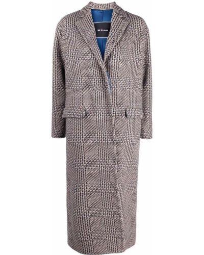 Шерстяное пальто - синее Kiton