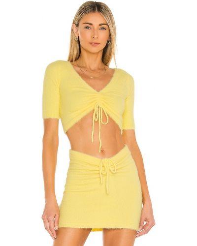 Текстильный мягкий желтый свитер Majorelle