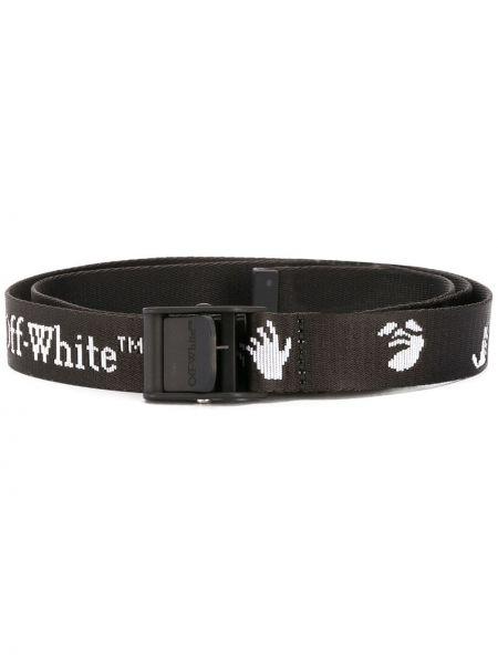 Черный ремень с пряжкой с поясом Off-white