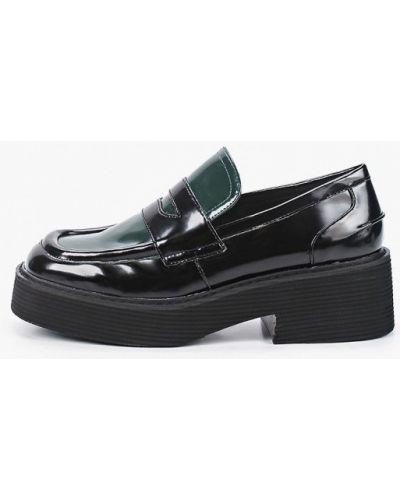 Черные кожаные туфли закрытые Sprincway