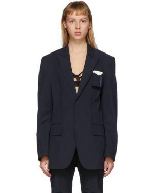 С рукавами пиджак с карманами с воротником с лацканами Hyein Seo