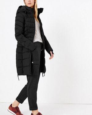 Теплая черная утепленная куртка Marks & Spencer