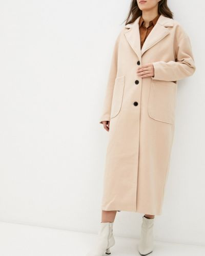 Бежевое пальто Missguided