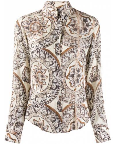 Рубашка с длинным рукавом с принтом ретро Vivienne Westwood Pre-owned