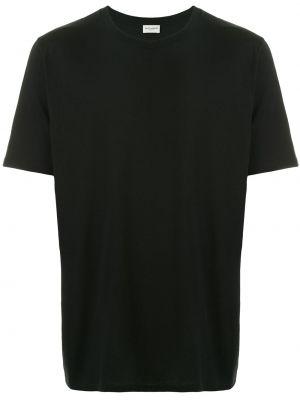 Koszula krótkie z krótkim rękawem prosto czarna Saint Laurent