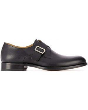 Коричневые туфли на каблуке с пряжкой Scarosso