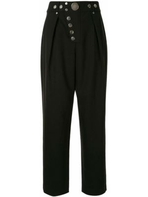Spodnie z wysokim stanem z kieszeniami czarne Alexander Wang