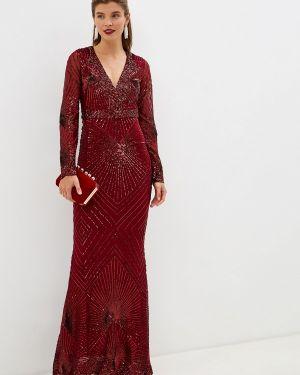 Вечернее платье осеннее красный Goddiva
