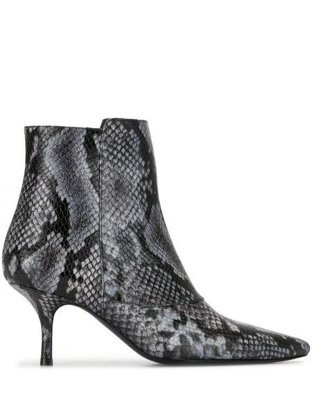 Ботинки на каблуке черные без каблука Anine Bing