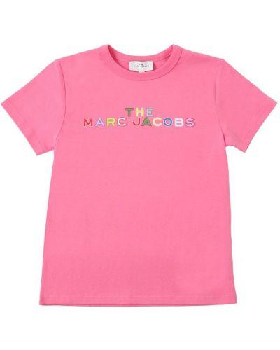 Розовая трикотажная футболка Little Marc Jacobs