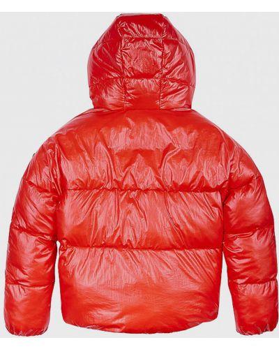 Красная куртка с карманами с капюшоном на молнии Tommy Hilfiger